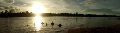 Swimming in a forgotten river in Venezuela with good friends. So beautiful