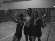Volleyball game in Korea with daughters