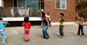 Playing with some kids at an orphanage in South Korea. Worked with the Organization PLUR started by my friend Danny