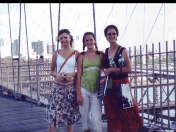 Brooklyn Bridge 2005 with Daughters