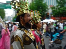 Zoom on parade passing by in Korea.