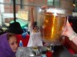 Behind a beer mug in Korea