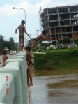 Bridge jumping in Cambodia