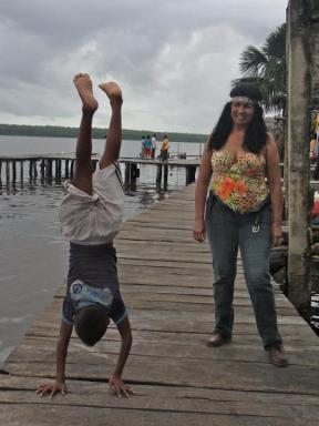 Foot Bridge in Delta Orinoco