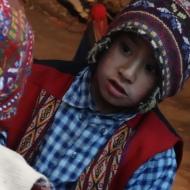 zoom on boy in Peru
