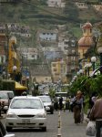 street shot of ecuador looks like a painted city
