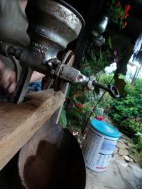 Fresh ground coffee ready - organic coffee farm los andes
