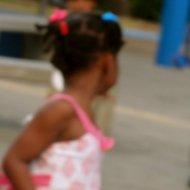 little girl in curacao.