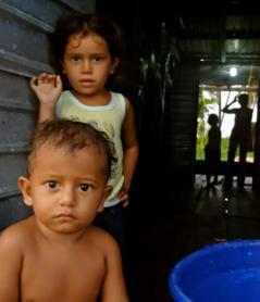 Water homes in Catatumbo, Venezuela