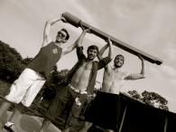 Venezuela, Took 3 men to hoist this post. Well not really but they wanted to pose with it.