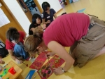 Korean Orphange painting with kids
