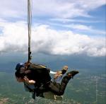 Sky-diving in Venezuela