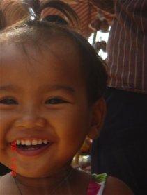beautiful happy children in Cambodia