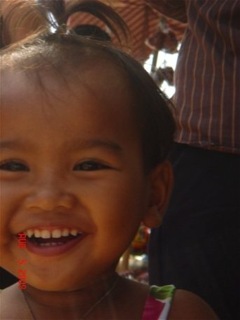 beautiful happy children in Cambodia