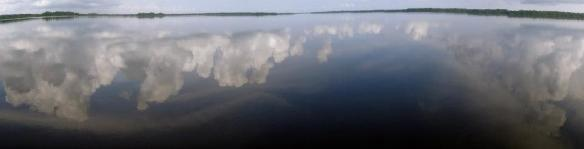 catatumbo clouds reflected on water