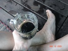 Coffee on vietnam fishing boat in Cambodia