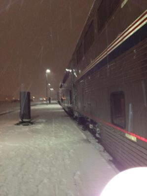 leaving in a snowstorm