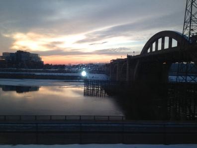 Bridge with sunset