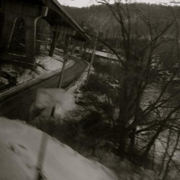 Bridge over snow