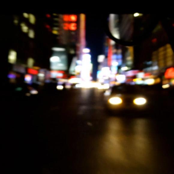 Random street in New York taken from open backed cab with iphone 5