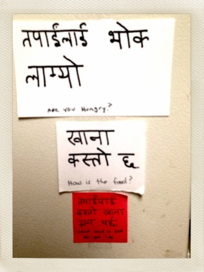 food word question wall