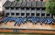 School behind my apartment