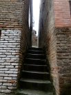 Brown narrow alleys