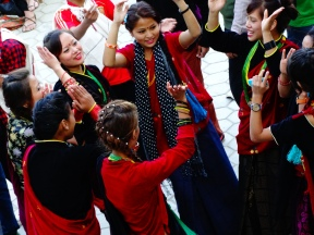 dancing festival in the city