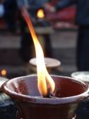 smoke and candles