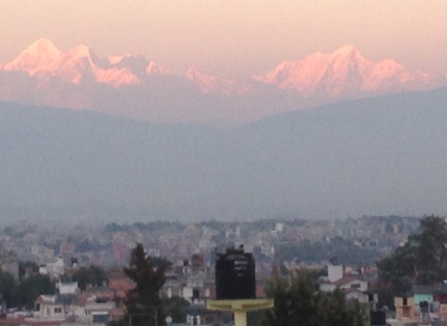 Himalayans from the roof.. amazing view
