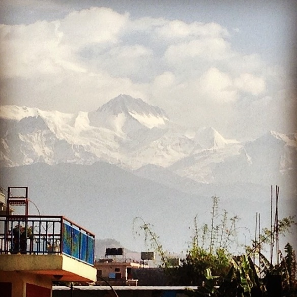 View of Himalayas from my hotel door.