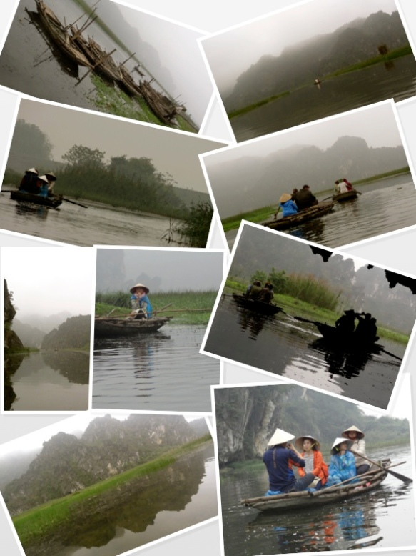 vietnam mist on canoe