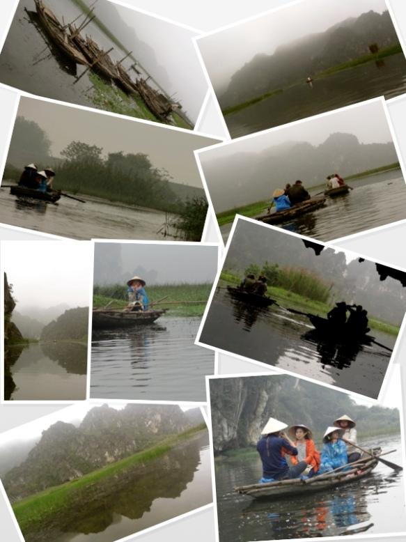 vietnam mist on canoe