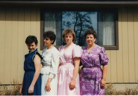 WOW my sisters look great. What a blast from the past. High school days so many years ago.