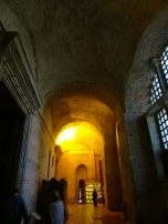 Lighted hallways in Mosques, Istanbul Turkey