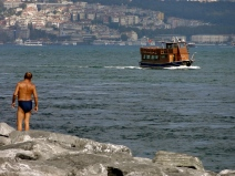 Blue waters in Istanbul Turkey