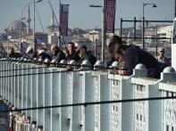 Edge of a pier Istanbul Turkey