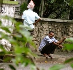 Edge of the sidewalk chennai india
