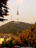 Changing colors to Seoul Tower