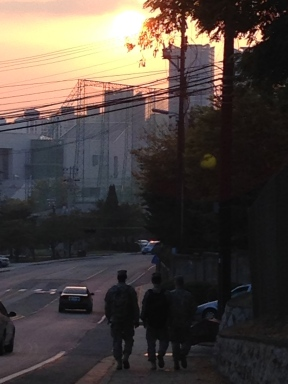 Korean fall sunset